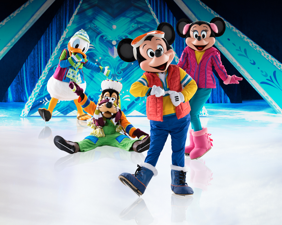 Frozen_Mickey, Minnie, Goofy and Donald
